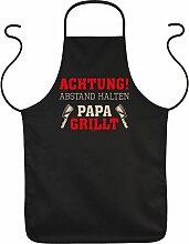 Vater Grill Geschenke Ideen Papa lustig Achtung!