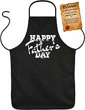 Vatertag Grill Schürze - Happy Father s DAY - mit Bester Vater der Welt-Urkunde