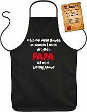 Vatertag Grill Schürze - Ich habe viele Namen PAPA ist mein Lieblingsname - mit Bester Vater der Welt-Urkunde
