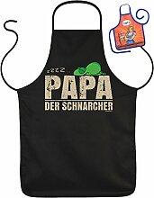 Vatertag Grill Schürze - PAPA der Schnarcher - mit kleiner Fun-Schürze