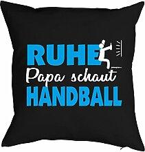 Vatertag Vatertagsgeschenk Papa Kissen Geburtstag Weihnachten Geschenk Geschenkidee für Papa Ruhe Papa schaut Handball