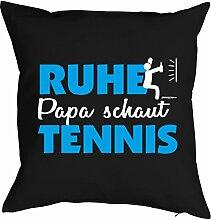 Vatertag Vatertagsgeschenk Papa Kissen Geburtstag Weihnachten Geschenk Geschenkidee für Papa Ruhe Papa schaut Tennis