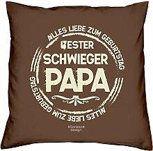 Vatertagsgeschenk Geburtstagsgeschenk Weihnachtsgeschenk Männer Vater Schwiegervater :-: Bester Schwiegerpapa :-: Geschenkidee Farbe: braun