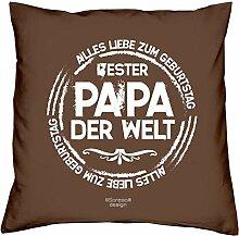 Vatertagsgeschenk Geburtstagsgeschenk Weihnachtsgeschenk Männer Vater :-: Bester Papa der Welt :-: Geschenkidee Farbe: braun