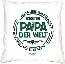 Vatertagsgeschenk Geburtstagsgeschenk Weihnachtsgeschenk Männer Vater :-: Bester Papa der Welt :-: Geschenkidee Farbe: weiss