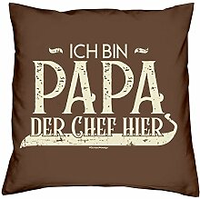 Vatertagsgeschenk Kissen und Urkunde :+: Ich bin