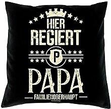 Vatertagsgeschenk Sofakissen Kissen und Urkunde