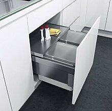 Vauth-Sagel 90006179 Mülltrennsystem, Plastik, grau, 38 x 58 cm