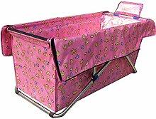 VBGHB Folding Badewanne/Dusche oder Badewanne/Free aufblasbares Kinderbecken dicker Isolierung warm zu halten-Rosa Version A