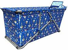 VBGHB Folding Badewanne/Dusche oder Badewanne/Free aufblasbares Kinderbecken dicker Isolierung warm zu halten-Dunkelblau Version A