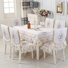 Vbimlxft - Europäischen Stil Tischdecken Stuhl