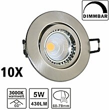 VBLED® 10er LED Einbaustrahler Einbauspots