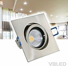 VBLED® 1x Einbaustrahler Aluminium, Set mit 3.5W