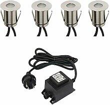 VBLED® Boden-Einbaustrahler 0.3W Mini LED,