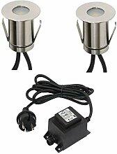 VBLED® Boden-Einbaustrahler 0,3W Mini LED,