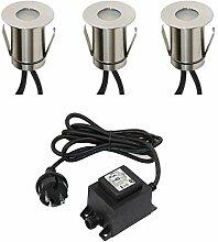 VBLED® Boden-Einbaustrahler 0.3Watt Mini LED,