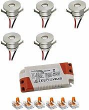 VBLED® LED Aluminium Mini Einbaustrahler IP44