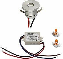 VBLED LED Aluminium Mini Einbaustrahler IP44