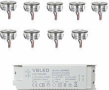 VBLED® LED Aluminium Mini Einbaustrahler Spot