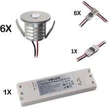 VBLED LED Einbauleuchte Mini Einbaustrahler Mini