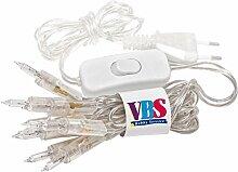 VBS Mini-Lichterkette mit Schalter, transparent 10er, transparen