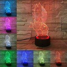 VCity Dragon Ball Serie 3D Nachtlicht Vegeta