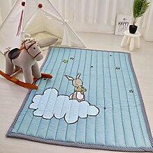 VClife® Baumwolle Teppich Kinderzimmer Spielteppich Kinder Baby Krabbeldecke Süße Maus Geschenk Schlafzimmer Wohnzimmer Yoga Balkon Studiozimmer 140 x 200cm Wolke