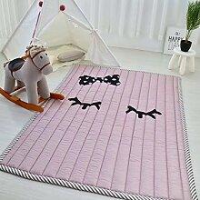 VClife® Baumwolle Teppich Kinderzimmer Spielteppich Kinder Baby Krabbeldecke Süße Maus Geschenk Schlafzimmer Wohnzimmer Yoga Balkon Studiozimmer 140 x 200cm Schleifer