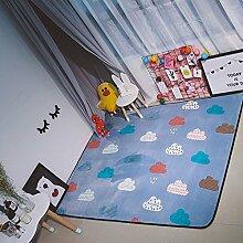 VClife® Polyester Kinderteppich Spielteppich Baby Krabbeldecke Kinder Süße Maus Geschenk Yoga Teppich Schlafzimmer Wohnzimmer Balkon Studiozimmer Dekoration Picnic Camping Ganzjährig 150 x 195cm Wolke