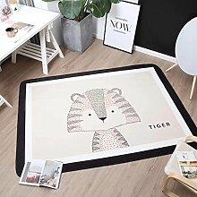 VClife® Polyester Teppich Kinder Teppiche Baby Krabbeldecke Spielteppich Geschenk Dekoartikel für Kinderzimmer Wohnzimmer Schlafzimmer Wiese Strand Matte 150 x 200cm Tiger