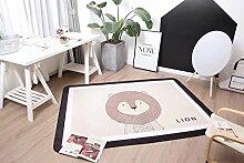 VClife® Polyester Teppich Kinder Teppiche Baby Krabbeldecke Spielteppich Geschenk Dekoartikel für Kinderzimmer Wohnzimmer Schlafzimmer Wiese Strand Matte 150 x 200cm Löwe