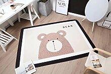 VClife® Polyester Teppich Kinder Teppiche Baby Krabbeldecke Spielteppich Geschenk Dekoartikel für Kinderzimmer Wohnzimmer Schlafzimmer Wiese Strand Matte 150 x 200cm Bär