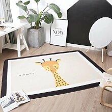 VClife® Polyester Teppich Kinder Teppiche Baby Krabbeldecke Spielteppich Geschenk Dekoartikel für Kinderzimmer Wohnzimmer Schlafzimmer Wiese Strand Matte 150 x 200cm iraffe