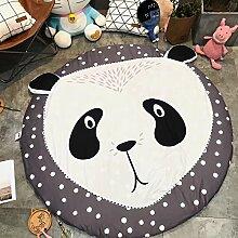 VClife® Spielteppich Kinderzimmer Babyteppich Schlafzimmer Wohnzimmer Dekoartikel Yoga Lauf Teppich Lesen Camping Picnic Ausflug Wiese Sandstrand Durchmesser von 150cm Panda