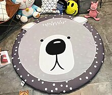 VClife® Spielteppich Kinderzimmer Babyteppich Schlafzimmer Wohnzimmer Dekoartikel Yoga Lauf Teppich Lesen Camping Picnic Ausflug Wiese Sandstrand Durchmesser von 150cm Bär