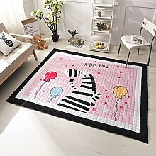 VClife® Spielteppich Teppich Schlafzimmer Wohnzimmer Boden Sofa Kinderzimmer Kinder Baby Lauf Teppich Süße Maus Geschenk Mit anti-rutsch Schicht Polyester 145 x 195cm Zebra