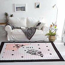 VClife® Teppich 100% Baumwolle Baby Krabbeldecke Kinder Spielteppich Süße Maus Geschenk Kinderteppich Schlafzimmer Wohnzimmer Studiozimmer Yoga Lauf Teppich 150 x 200cm Bla