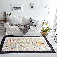 VClife® Teppich 100% Baumwolle Baby Krabbeldecke Kinder Spielteppich Süße Maus Geschenk Kinderteppich Schlafzimmer Wohnzimmer Studiozimmer Yoga Lauf Teppich 150 x 200cm Alien