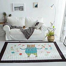 VClife® Teppich 100% Baumwolle Baby Krabbeldecke Kinder Spielteppich Süße Maus Geschenk Kinderteppich Schlafzimmer Wohnzimmer Studiozimmer Yoga Lauf Teppich 150 x 200cm Bär