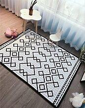 VClife® Teppich Baumwolle Polyester Kinderteppich Spielteppich Schlafzimmer Wohnzimmer Dekoartikel Baby Krabbeldecke Geometrie Yoga Nordeuropäisch Balkon Ausflug Geschenk für Süße Maus 150 x 195cm