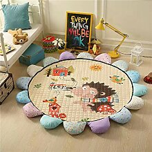 VClife® Teppich Kinderteppich Baumwolle