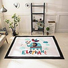 VClife® Teppich Kinderteppich Polyester Baby Laufteppich Wohnzimmer Schlafzimmer Dekoartikel Kinder Spielteppich Geschenk Yoga Wiese Ausflug Picnic Weich Steppen 145 x 195cm Elefan