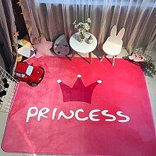 VClife® Teppich Kinderteppich Polyester Kinder Spielteppich Baby Krabbeldecke Yoga Training Zimmer Dekoartikel Wiese Picknick Strand 150 x 190cm Prinzessin