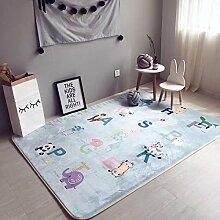VClife® Teppich Kinderteppich Polyester Kinder Spielteppich Baby Krabbeldecke Yoga Training Zimmer Dekoartikel Wiese Picknick Strand 150 x 190cm Tiere