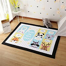 VClife® Teppich Matte Kinderteppich Baby Krabbeldecke Spielteppich Kinder Süße Maus Geschenk Yoga Matte Zimmer Dekoartikel Wiese Strand 145 x 200cm Freunde