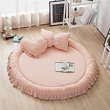 VClife® Teppich Matte Kinderteppich Krabbeldecke Kinder Baby Spielteppich Prinzessin Mädchen Geschenk (Ohne Zierkissen) 3cm Hoch Durchmesser von 140cm Rosa