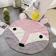 VClife® Teppich Matte Kinderzimmer Schlafzimmer Wohnzimmer Boden Dekoration Kinderteppich Spielteppich Manuell Polyester Strick Weich Geschenk etwa 80 x 80cm Fuchs