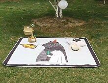 VClife® Teppich Picknick Kinder Spielteppich Baby Krabbeldecke Kinderteppich Geschenk Yoga Schlafzimmer Wohnzimmer Kinderzimmer Boden Balkon Ausflug Ganzjährig 140 x 200cm Bär