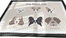 VClife® Teppich Polyester Kinderteppich Hund