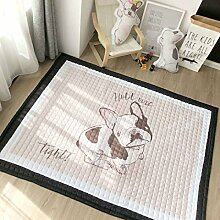 VClife Teppich Polyester Kinderteppich Hund